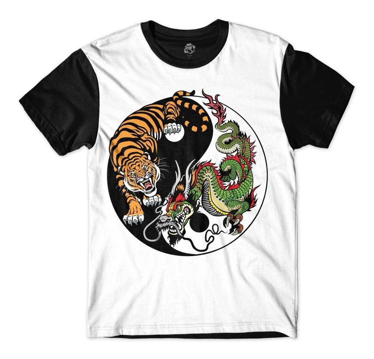 b2dc24fbf Camisa Camiseta Ying Yong Trigre Dragão China Japão Coreia - R$ 42 ...