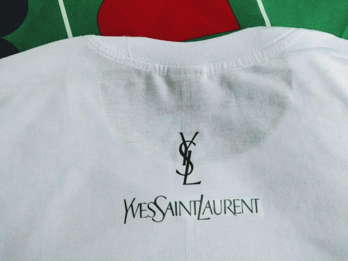 b148b097663ab camisa camiseta yves saint laurent ysl logo marca grife moda. Carregando  zoom.