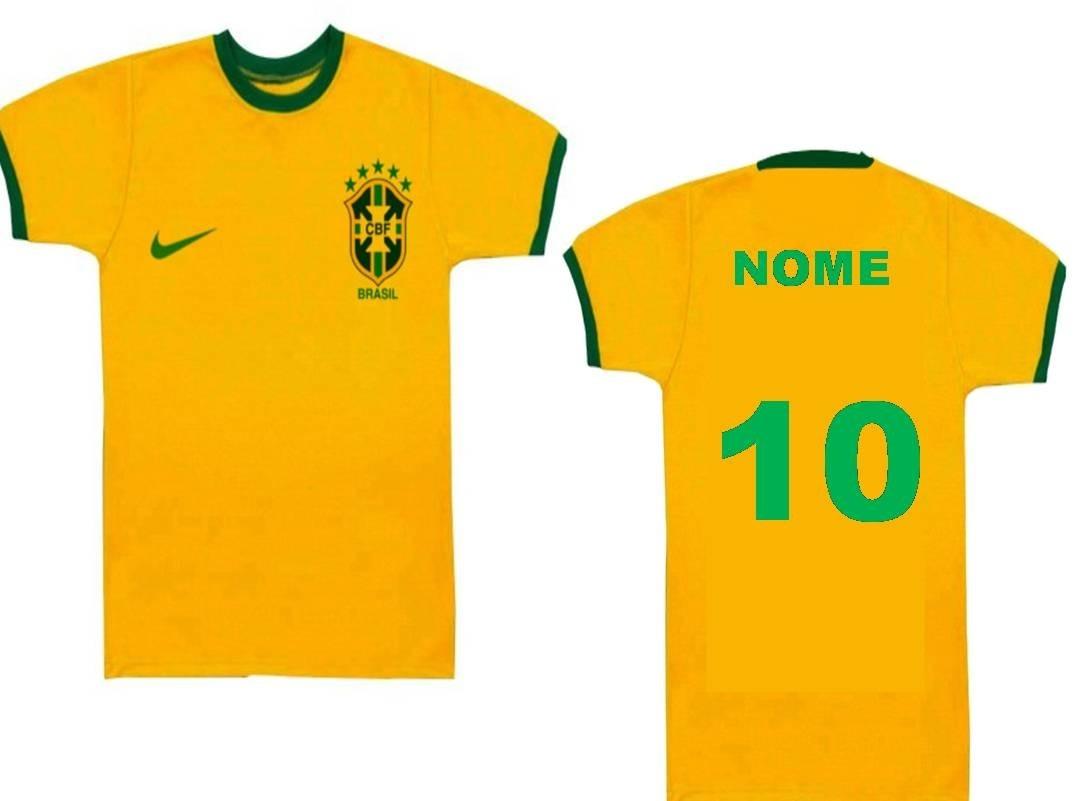 796bca3d4 camisa camista infantil personalizado com nome copa brasil. Carregando zoom.