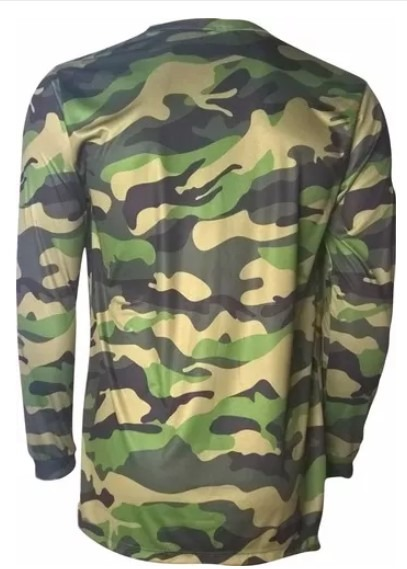 Camisa Camuflada Proteção Uv50+ Dry Fit Caça E Pesca Kaa1c. - R  59 ... 4fa5b6c2d7c