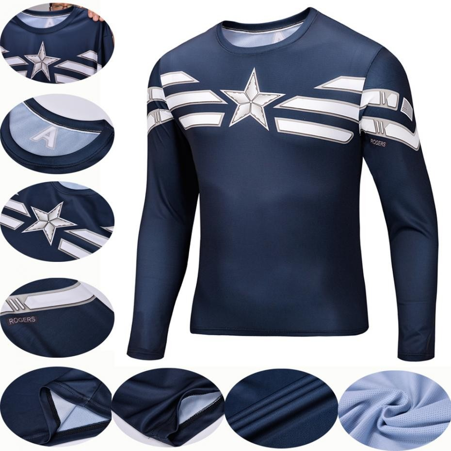 camisa capitão américa - marvel comics tam. l manga longa. Carregando zoom. 6281d5000dd1e