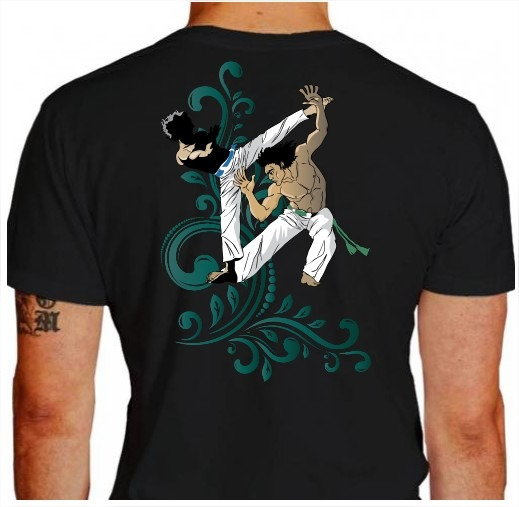 Camisa Capoeira Martelo Preta Juvenil Dryfit Personalize - R  54 cf1a69e924a28