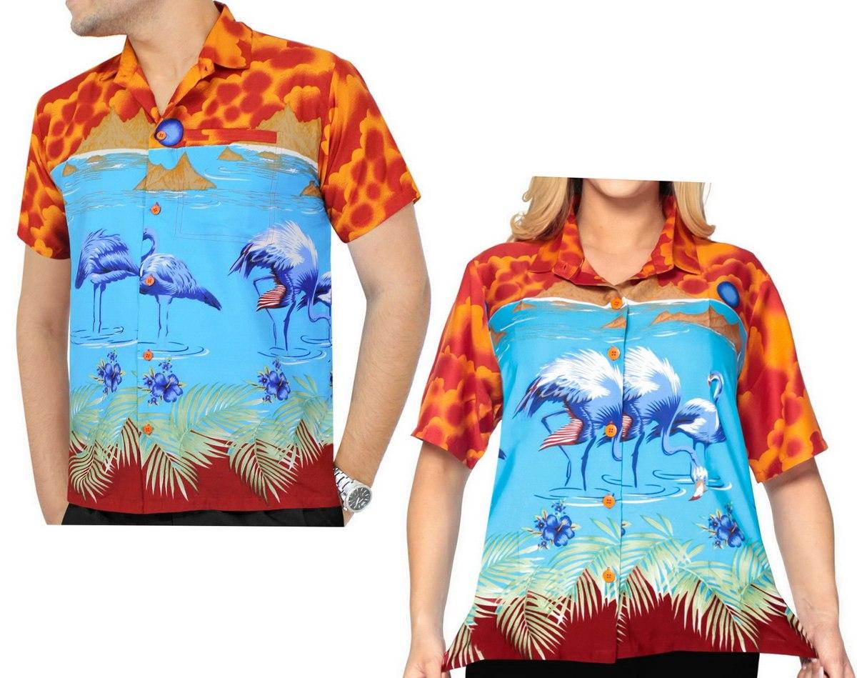 55634bb4408 camisa caribeña la leela manga corta likre p mujer naranja. Cargando zoom.