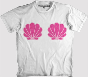 18dd706ab Camisa Carnaval - Conchas Cor De Rosa Purpurinadas