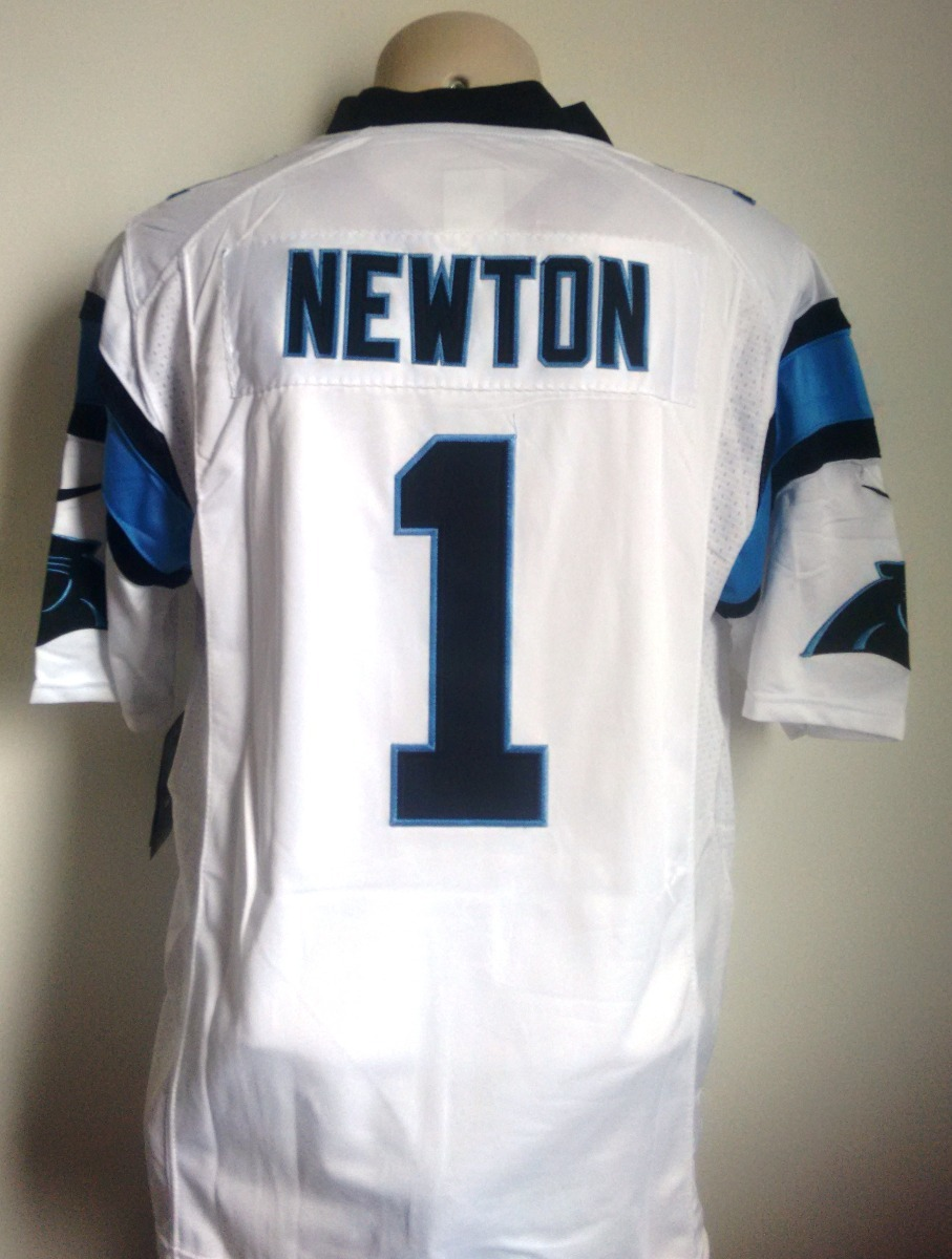 dee6d70eae69e camisa carolina panthers branca bordada - newton 1. Carregando zoom.