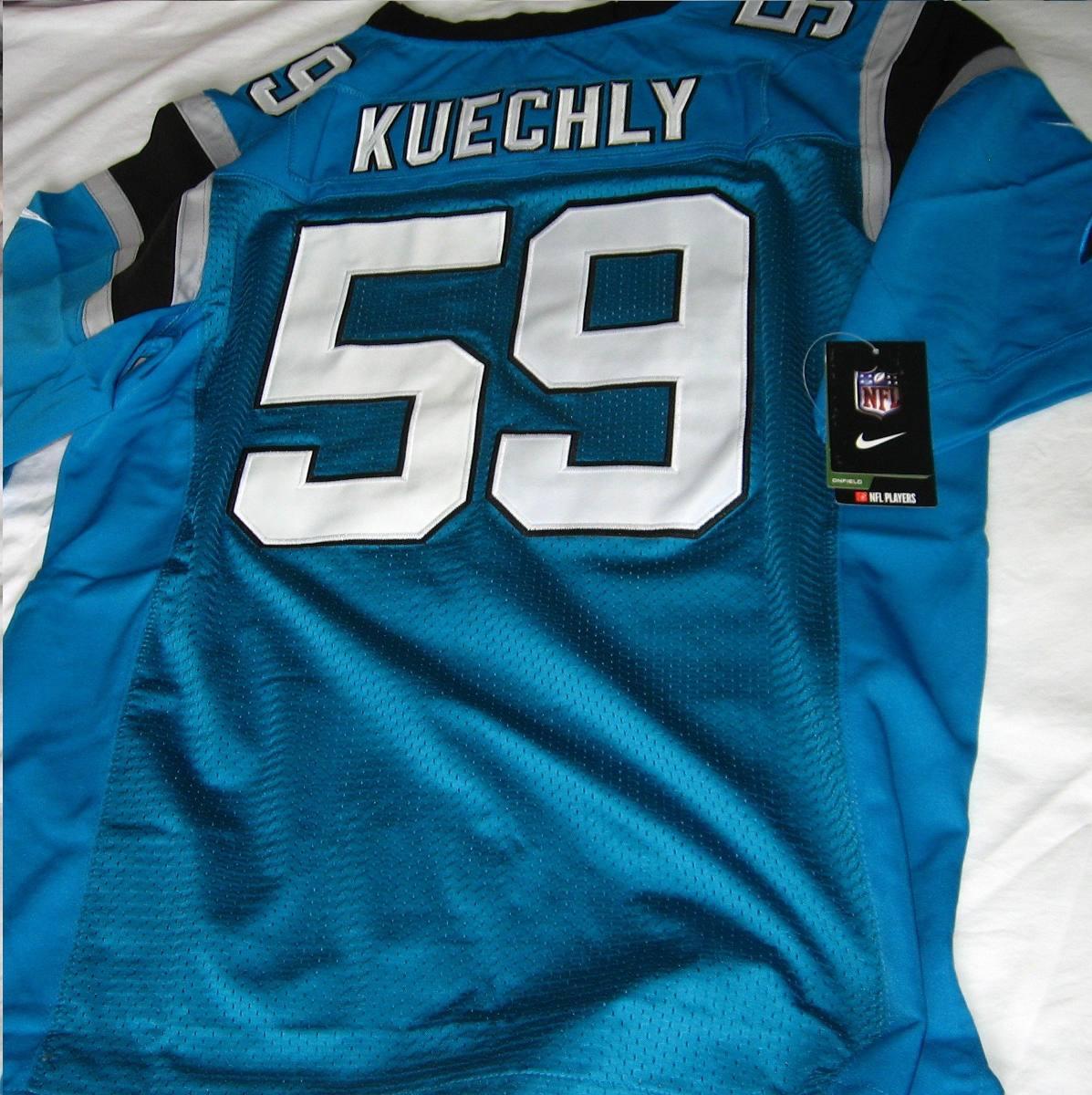 fe88e6f93f839 camisa carolina panthers luke kuechly nfl - pronta entrega. Carregando zoom.