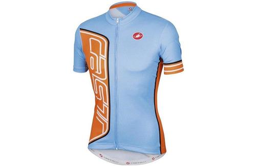 camisa castelli formula guff - cor azul