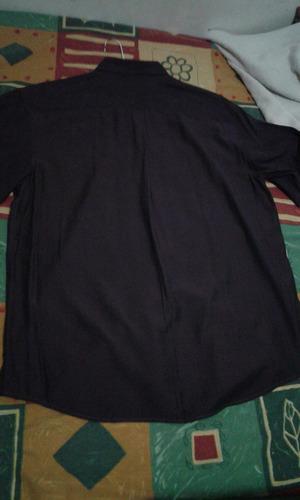 camisa casual color morado talla xl