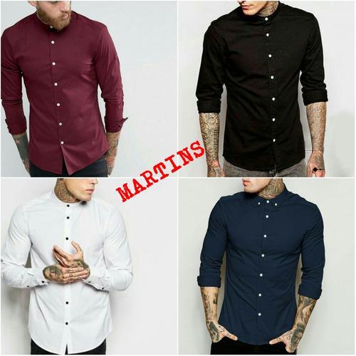 camisa casual cuello americano o chino - martins ec