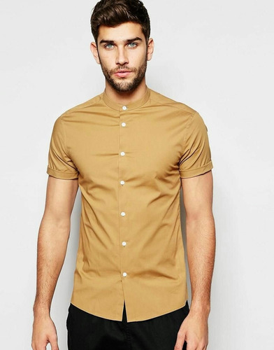 camisa casual cuello chino o americano - martins ec