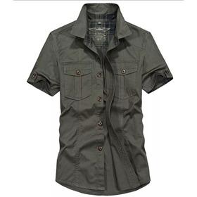 Camisa Casual Estilo Militar Army Green (nova)