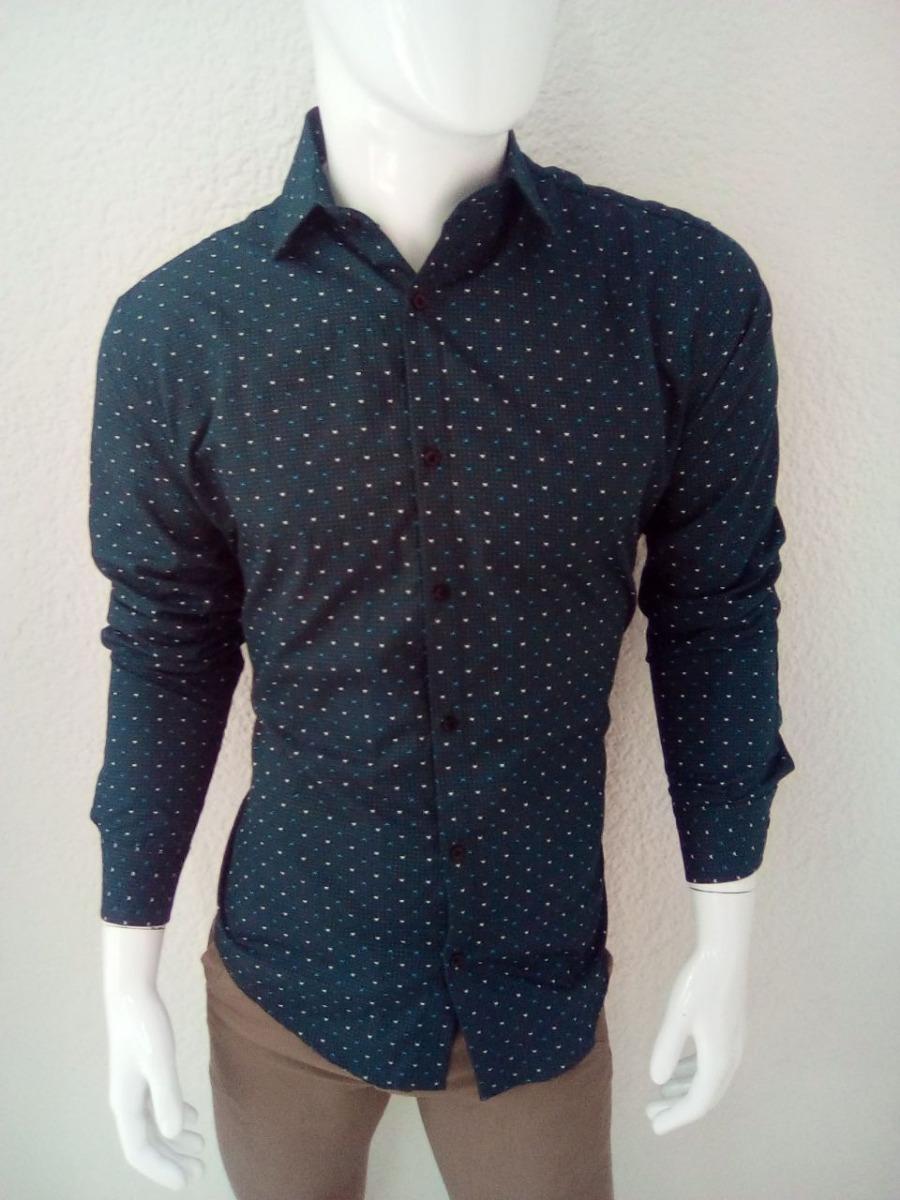 Camisa Casual De Manga Larga Para Hombre Color Azul Marino ... 630fe92326ea2