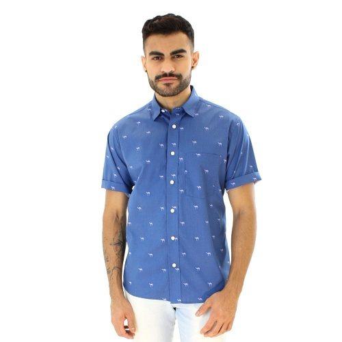 d9d4cd5751 Camisa Casual Masculina Algodão Fio 60 F05989a Azul - R  119