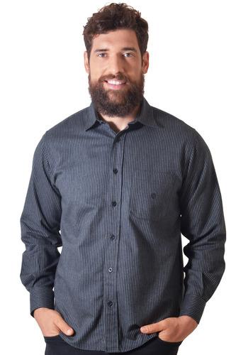 camisa casual masculina tradicional flanela f01730a preto