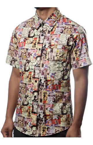 camisa casual vintage propaganda antiga outdoor retrô