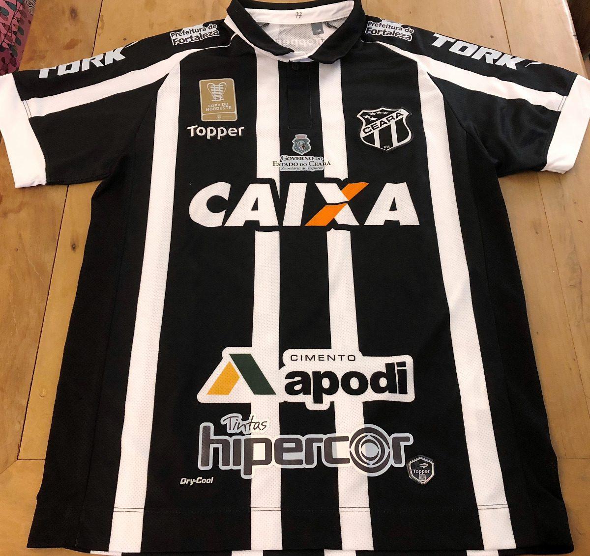camisa ceará usada em jogo copa nordeste 2018. Carregando zoom. e1099ea22fb91