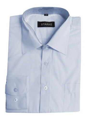 camisa celeste p/hombre starke