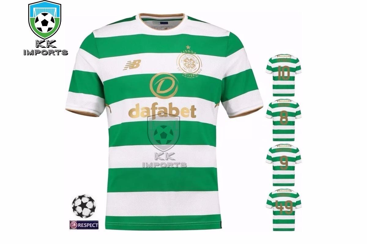 f23b3eedb192e Camisa Celtic 2017 2018 Uniforme 1 Sob Encomenda - R  170