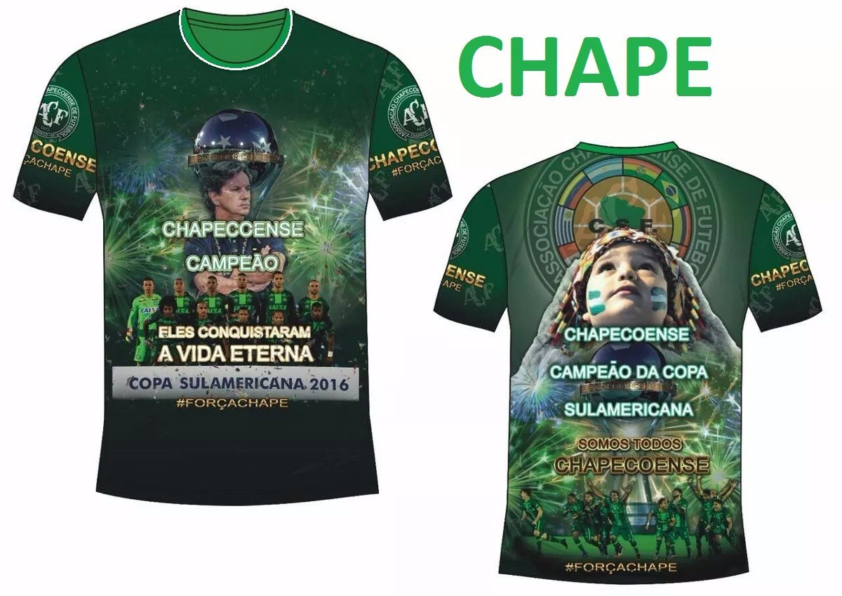Camisa Chapecoense 2016 - Homenagem -  força Chape - R  39 6d9058ecaf1db
