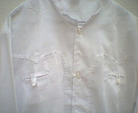 03e3f2ea2d Camisas Charras Blanca Lisas - Camisas de Hombre Larga en Mercado ...