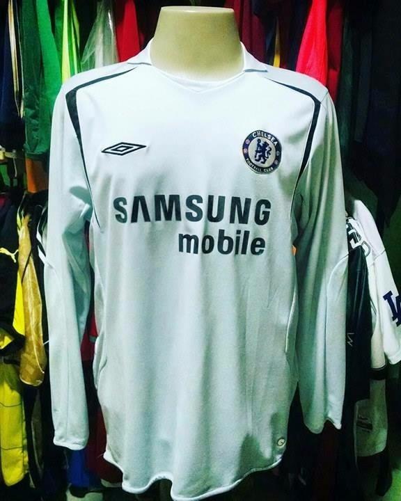 Camisa Chelsea 2005 Manga Longa Rara - R  140 9d0d0c95d1b35