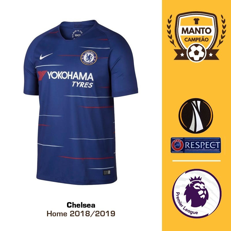 1c5a5a7716 camisa chelsea 2018 2019 home uniforme 1 hazard willian. Carregando zoom.