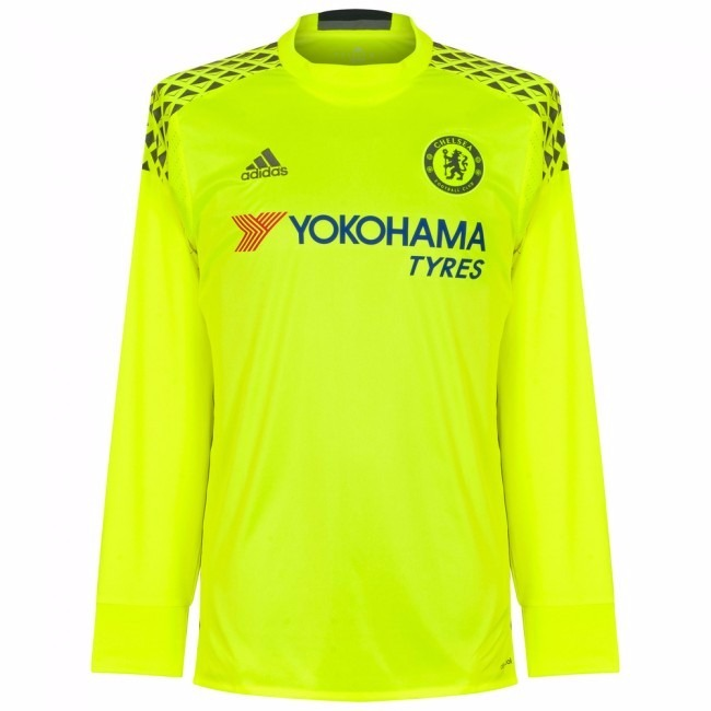 Camisa Chelsea Amarela 16-17 Goleiro Manga Longa Importada - R  150 ... 5e52624d9efde