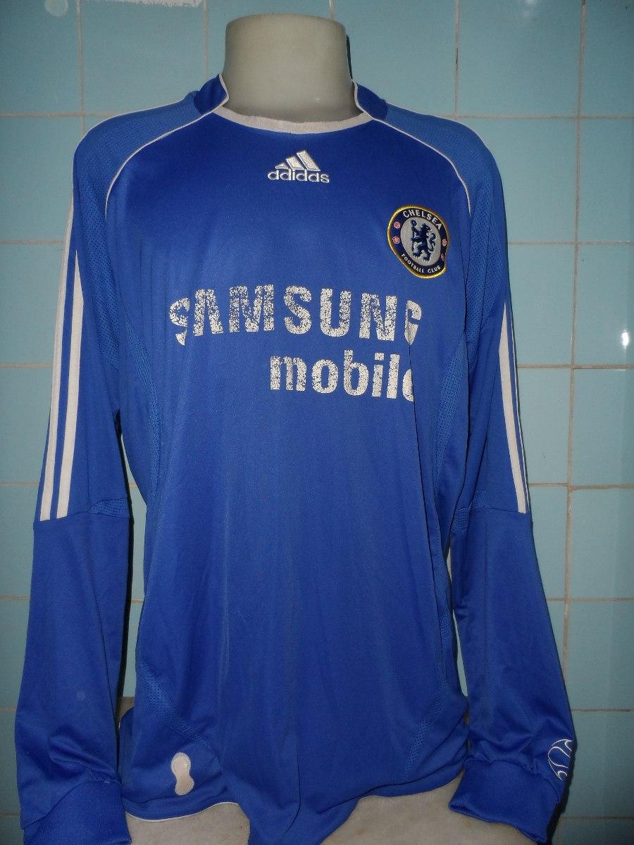 camisa chelsea azul manga longa adidas. Carregando zoom. 72c5f5fcdfc83