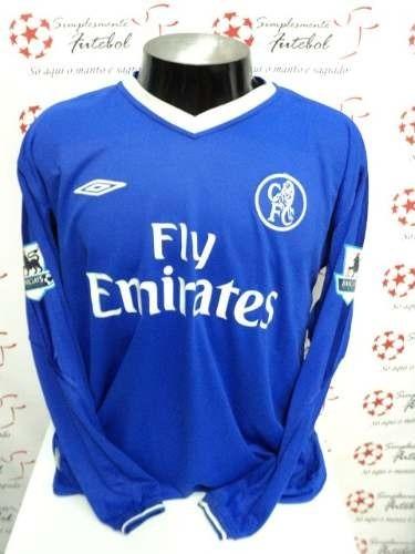 Camisa Chelsea Home 04-05 Manga Longa Drogba 15 Premier - R  200 f50b1cda2e1c5