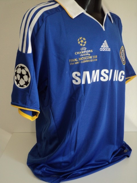 92a1fe270c Camisa Chelsea Home 08-09 Lampard 8 Final Champions Imp - R  200