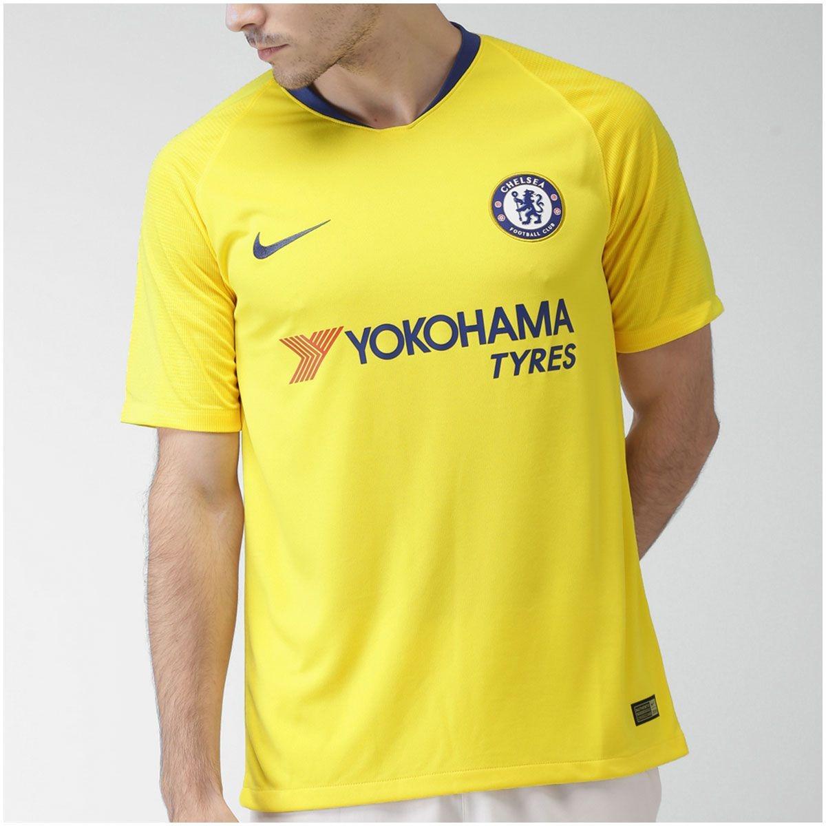 camisa chelsea ii 2018 2019 masculina amarela. Carregando zoom. d6ad3944dcff2
