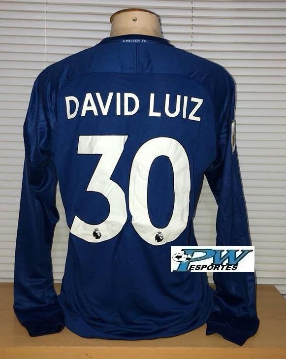 Camisa Chelsea Mangas Longas 2018  30 David Luiz - R  199 34e4b4e56273e