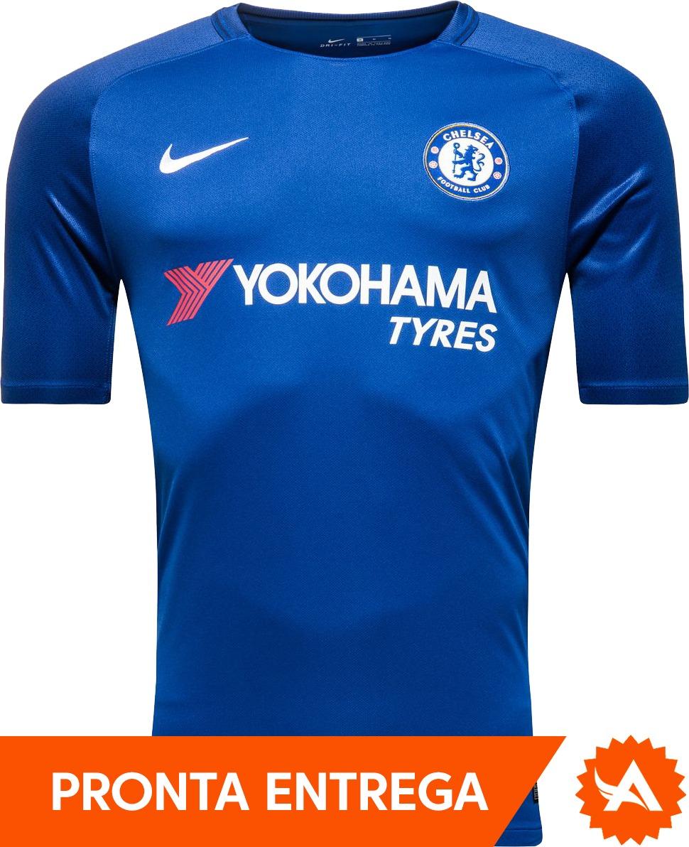 camisa chelsea nike home 2017 2018 azul - pronta entrega. Carregando zoom. 84520324de4e9