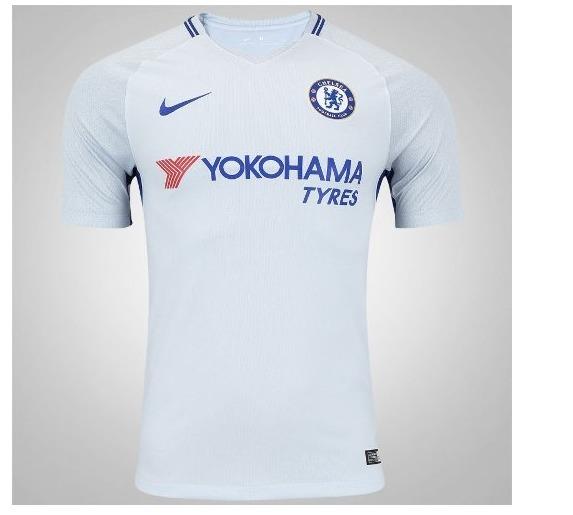 8f45061a0dc85 Camisa Chelsea Nike Inglaterra Azul Home 2018 Futebol Europa - R ...