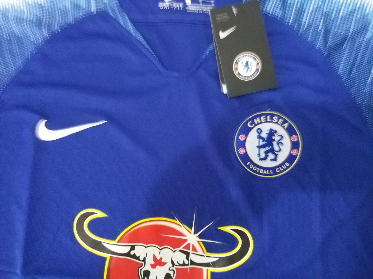 10fe0a52ef Camisa Chelsea Nike Treino 2018 19 - Azul - R  150