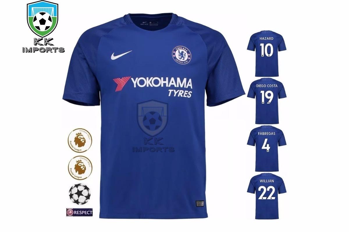 8ffba422ca camisa chelsea player 2017 2018 uniforme 1 sob encomenda. Carregando zoom.
