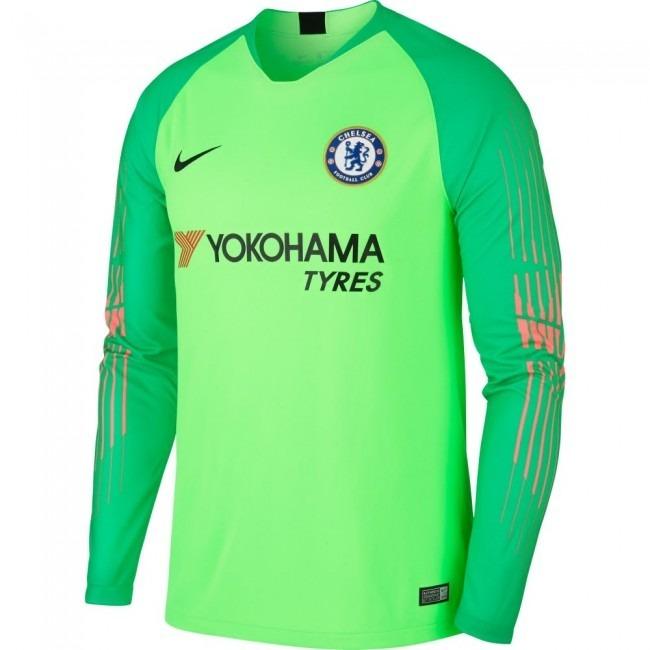 Camisa Chelsea Verde Goleiro 18-19 Manga Longa Importada - R  150 8e9b426dde08e