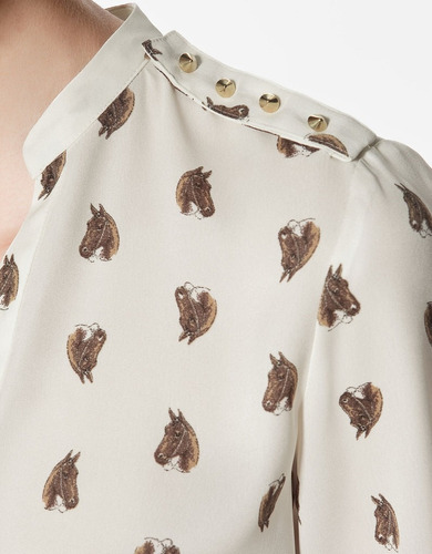 camisa chifon importada cavalos-    cachorrinhos