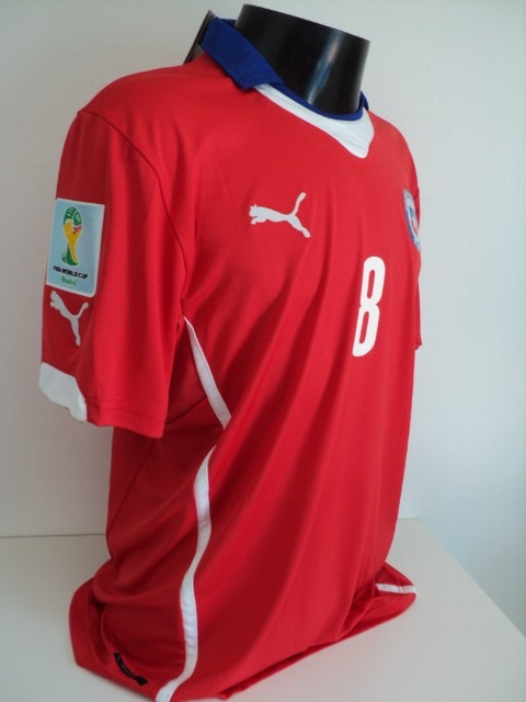 Camisa Chile Home 14-15 Vidal 8 Patch Wc 2014 Importada - R  150 40a3951099aa0