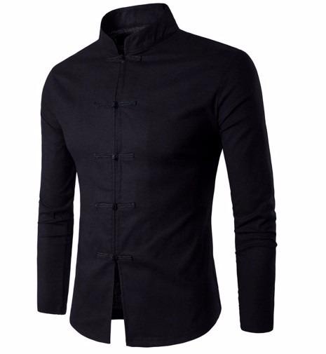 auténtica venta caliente 100% autentico mejor Camisa China Mandarin Tipo Kung Fu Moda 2017