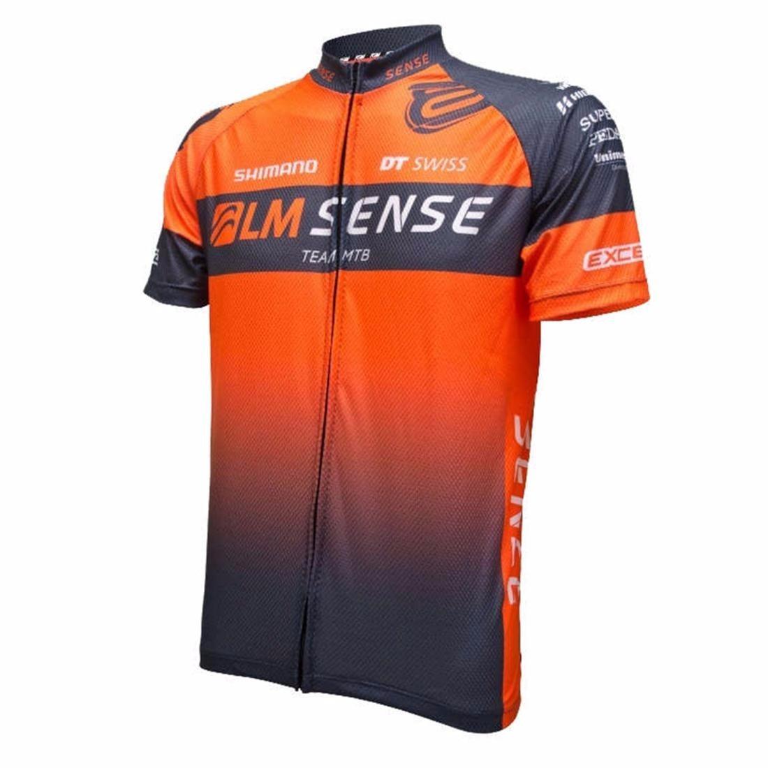 Camisa Ciclismo Asw Sense Fun Cinza Laranja M - R  139 fcd080745ff82