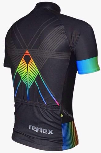 camisa ciclismo bike mtb ert advanced reflex preta + nf