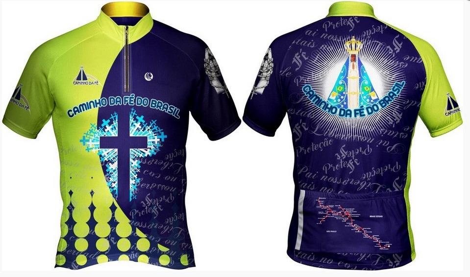 camisa ciclismo caminho da fé. Carregando zoom. 2950466f657a2