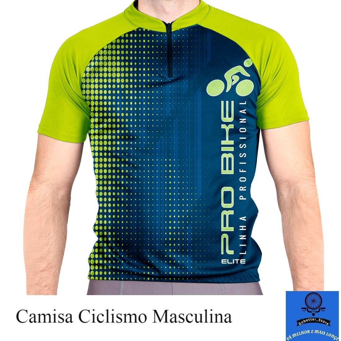 e820d7f522 camisa ciclismo elite masculina azul verde branca. Carregando zoom.