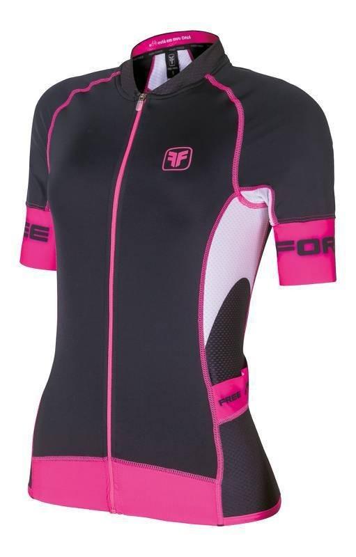 camisa ciclismo feminina free force stage preta rosa m. Carregando zoom. b0aa2512c2154