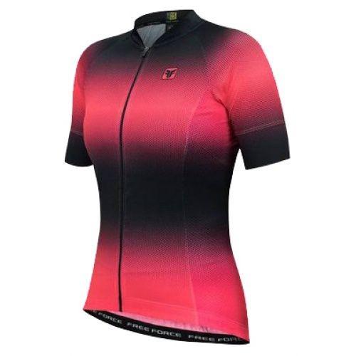 3e4fe898c04ef Camisa Ciclismo Free Force Star Sport Feminina Pto coral (p) - R ...