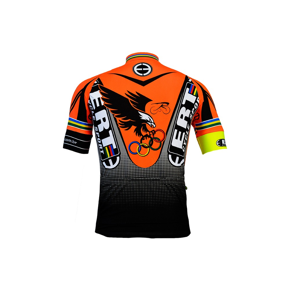 0a065bc739daf camisa ciclismo masculina ert mtb laranja original bike. Carregando zoom.