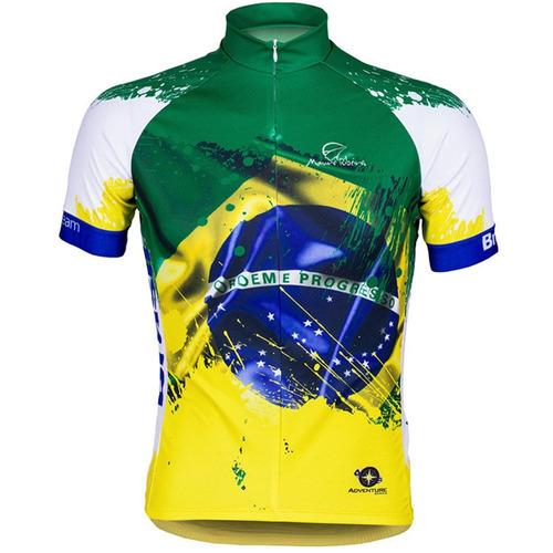 camisa ciclismo masculina mauro ribeiro brasil team mtb