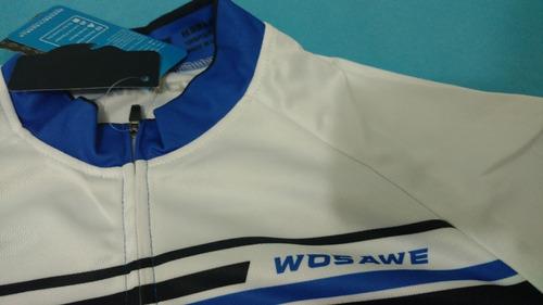 camisa ciclismo unissex manga longa wosawe tamanho l