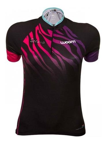camisa ciclismo woom essence savanna feminina